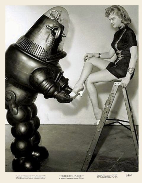 - Robby il Robot insieme ad Anne Francis -